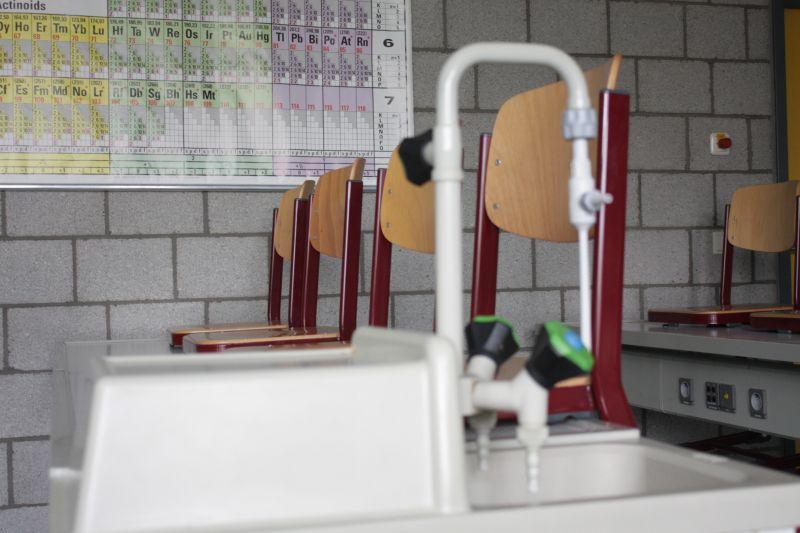 Auch in diesem Chemieraum werden unsere Gäste am 26. März neue Erfahrungen mit naturwissenschaftlichen Experimenten machen können.