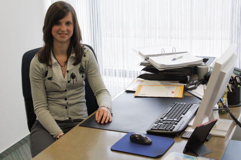 Anna-Christina Busch arbeitete in der Volksbank in Zülpich. Ihre Betreuer würden sie nach eigener Aussage sofort als Auszubildende nehmen.