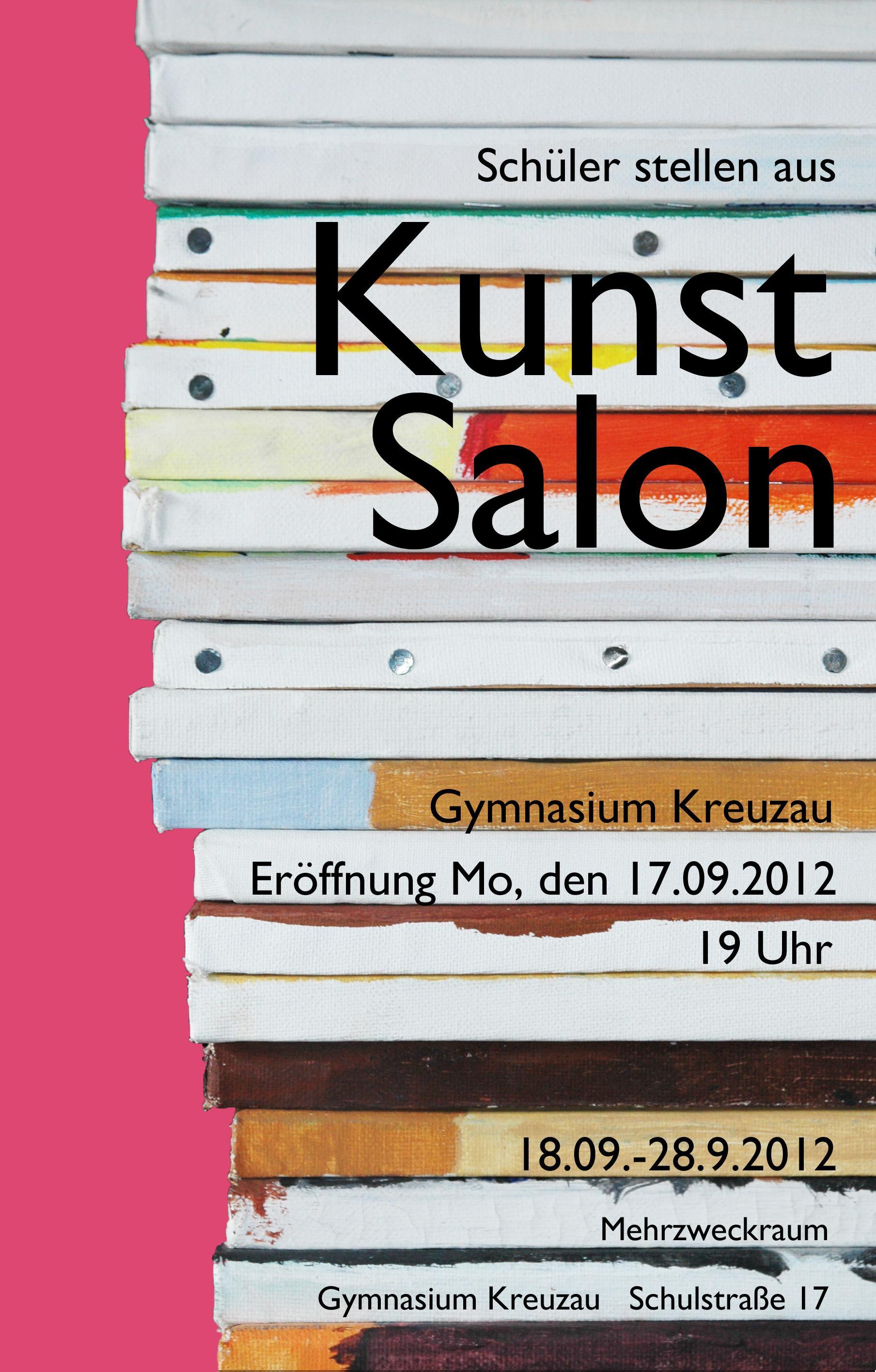 Mit diesem Plakat wirbt die Fachschaft Kunst für ihren diesjährigen Salon.