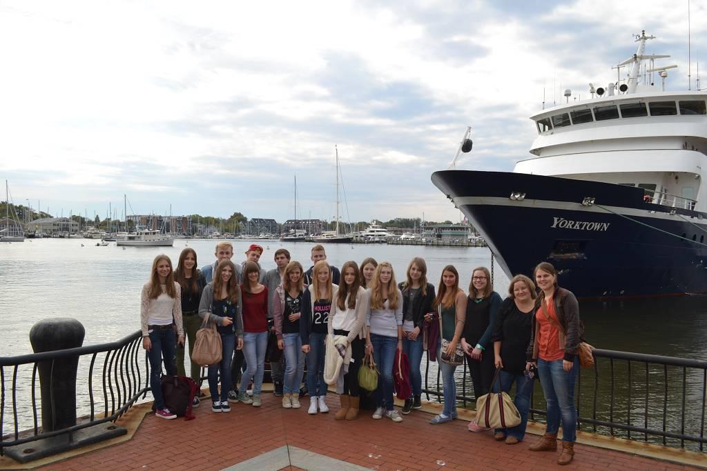 Vor allem Offiziersanwärter der US-Marine besuchen die Naval Academy in Annapolis.
