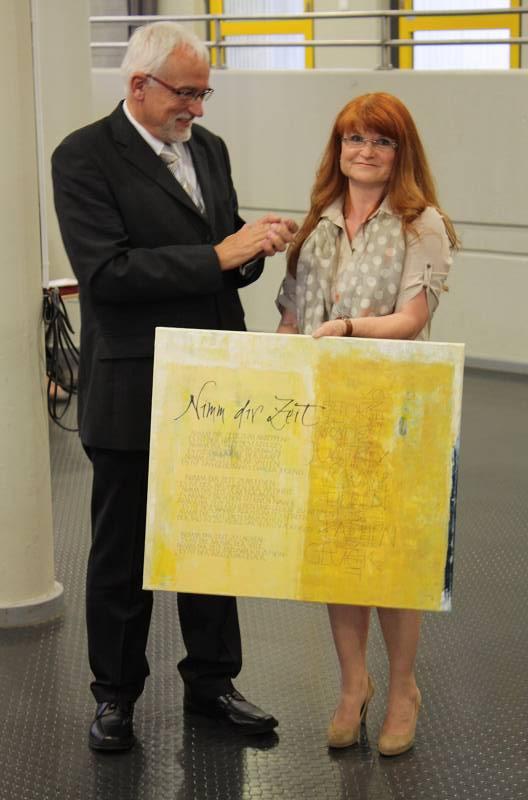 Für die Elternschaft bedankte sich Elvira Lawrenz bei Wolfgang Röther.