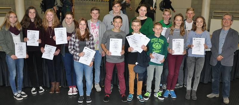 So sehen die Kreuzauer Sieger vom Schulsportfest des Kreises Düren aus.