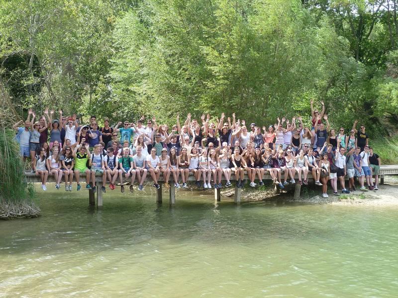 Gruppenfoto am Mittwoch bei einer Wanderung durch die Umgebung von St. Remy de Provence.