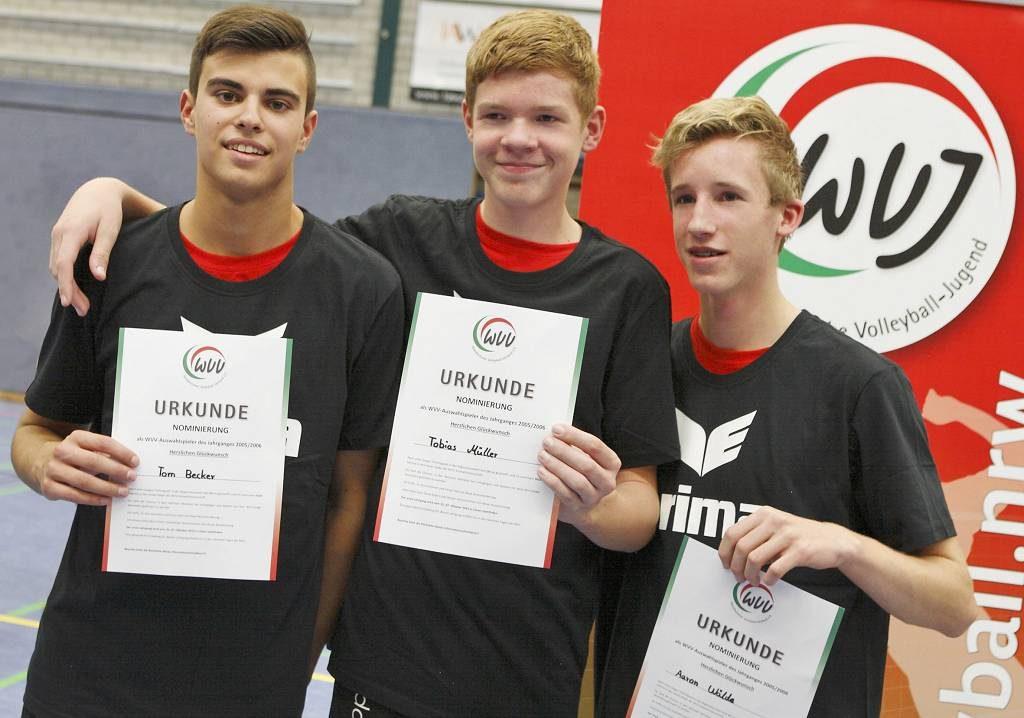 Turniersieg und Eintritt in den Landeskader in der Tasche: unsere drei besten Volleyballer ihrer Altersklasse