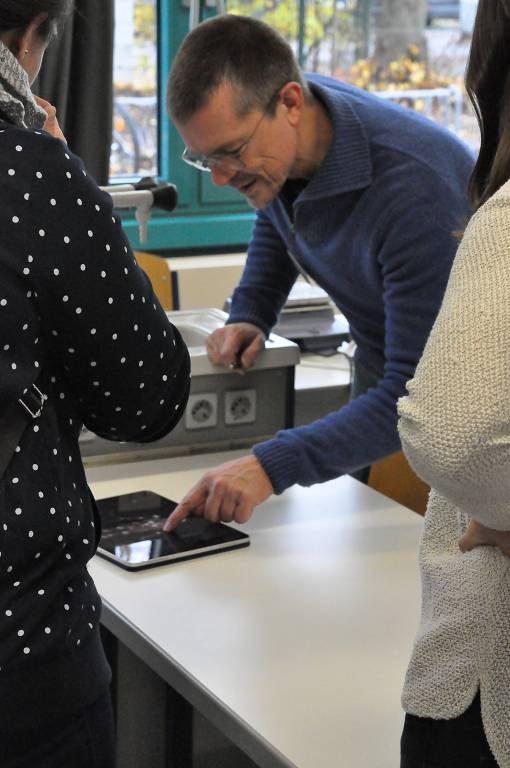 Auch digitale Lehrmaterialien gab es in den Räumen der Biologie zu sehen.